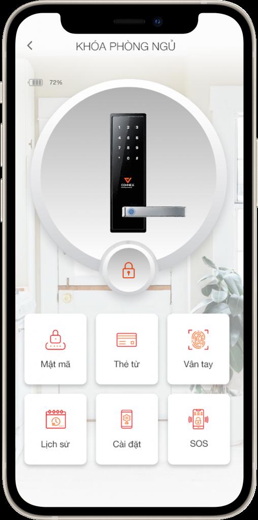 Ứng dụng Vhomenex quản lý khóa điện tử thông minh