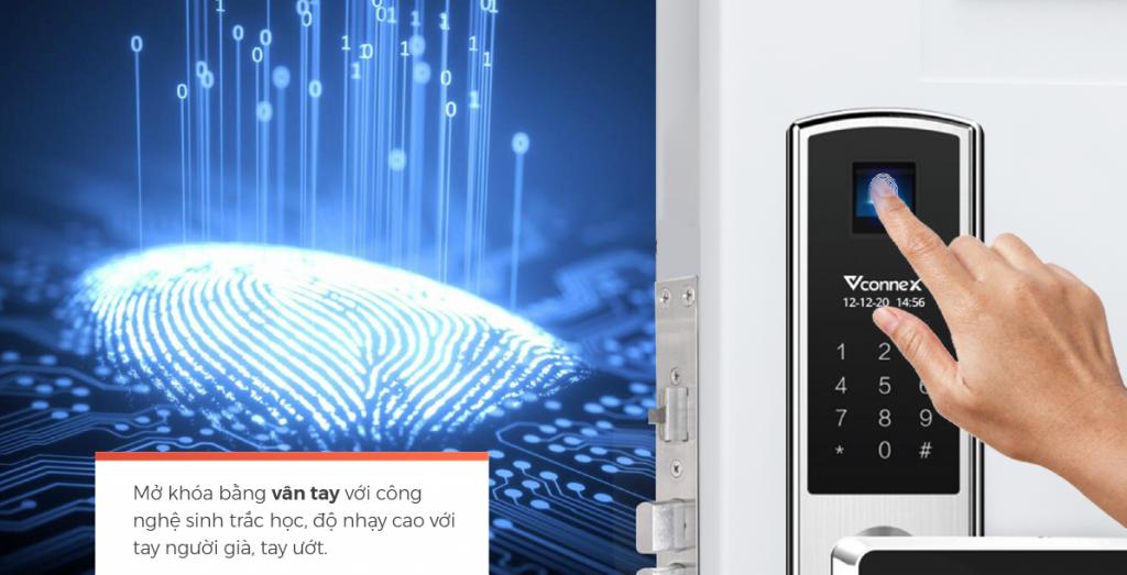 Mở khóa bằng khóa điện tử Vconnex 2