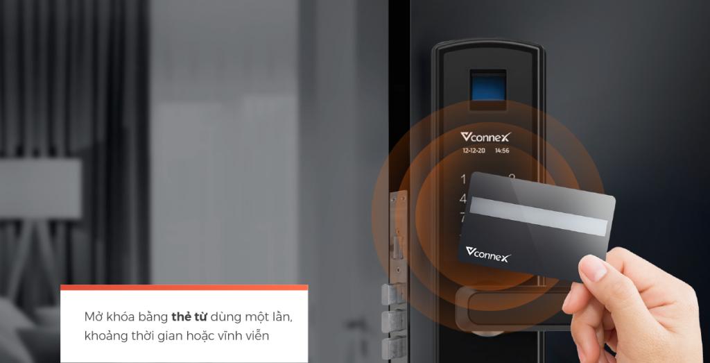 Mở khóa bằng khóa điện tử Vconnex 3