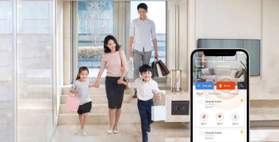 Công tắc thông minh Vconnex - sống tiện nghi an nhàn cho 3 thế hệ